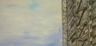 FORJADO - Óleo sobre tabla - 40 x 80 cm.